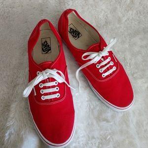Men's size 12 Red Vans